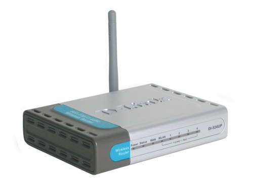 DLINK DI-524UP Wireless Router 54Mbps Built In 4 Port Switch <b>USB Print Server</b>