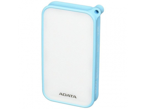 ADATA D8000L 8000mAh Power Bank BLUE Water/Dust Proof - Flashlight - 2x USB MODEL : AD8000L-5V-CBL