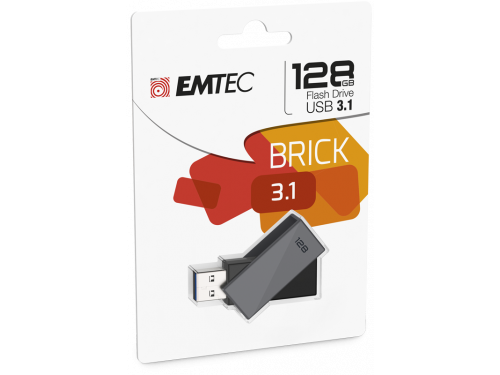 "EMTEC 128gb USB3.1 Flash Drive ""BRICK"" Model: ECMMD128GC353"